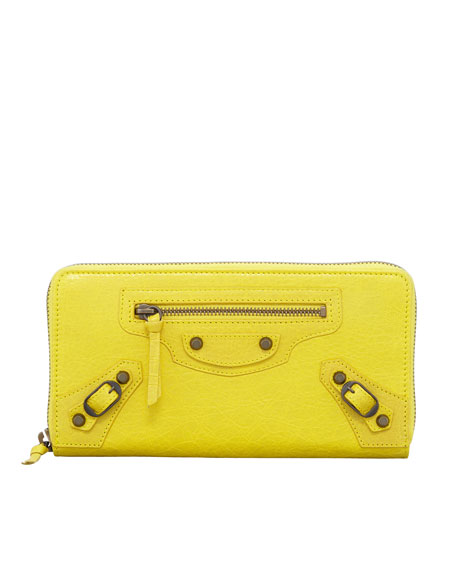 Classic Continental Zip Wallet, Curry