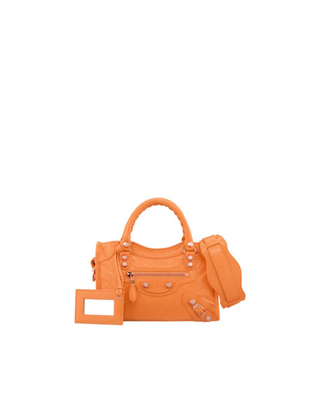 Mini Giant 12 Golden City Bag, Tangerine