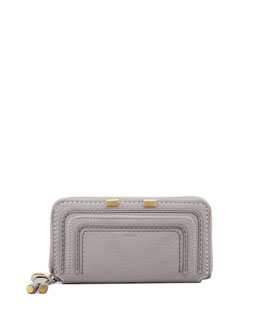 Chloe Marcie Continental Zip Wallet, Gray