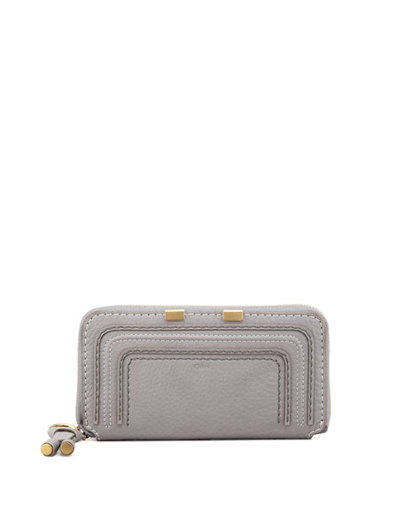 Marcie Continental Zip Wallet, Gray