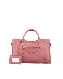 Balenciaga Giant 12 Nickel City Bag, Rose Bombon