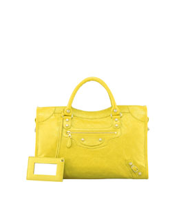 Balenciaga Giant 12 Nickel City Bag, Curry