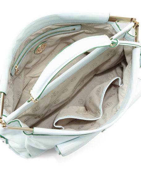 Priscilla Small Framed Satchel Bag, Emerald