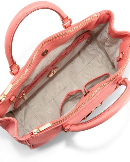 Amanda Double-Zip Tote Bag, Strawberry