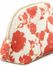 Robinson Floral-Print Cosmetic Case, Fire Orange
