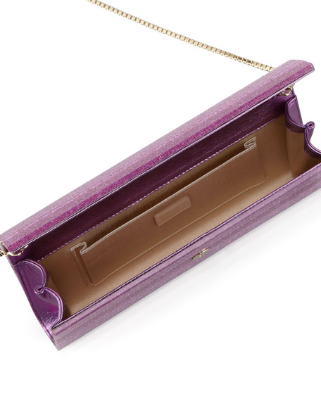 Sweetie Glittery Clutch Bag, Peony Pink