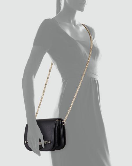 Shadow Metallic Crossbody Bag, Black