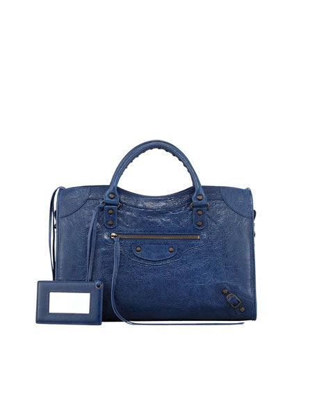 Classic City Bag, Blue Mineral