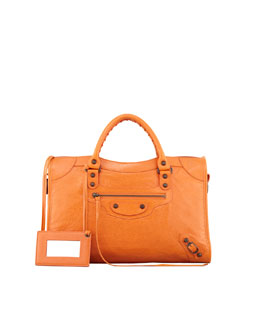 Balenciaga Classic City Bag, Tangerine