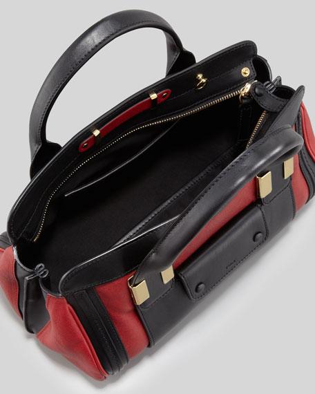 Alice Mini Satchel Bag, Carmin Red