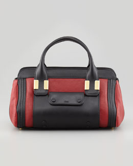 Chloe Alice Mini Satchel Bag, Carmin Red