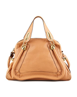 Chloe Paraty Medium Shoulder Bag, Light Tan