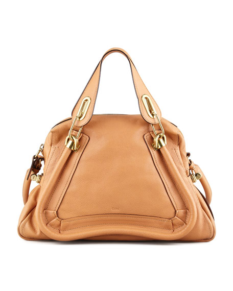 Paraty Medium Shoulder Bag, Light Tan