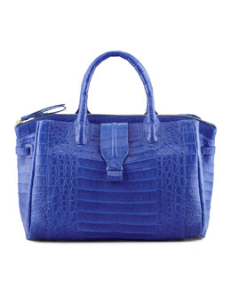 Nancy Gonzalez Cristina Crocodile Shoulder Tote Bag, Electric Blue
