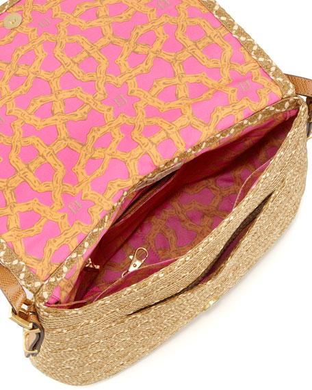 Squishee Law Shoulder Bag, Natural Mix