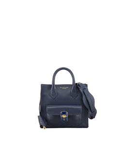 Balenciaga Padlock Mini Crossbody Bag, Marine/Navy