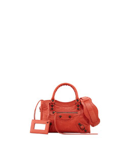 Balenciaga Classic Mini City Bag, Rose Corail