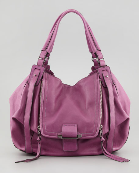 Jonnie Zip Hobo Bag, Violet