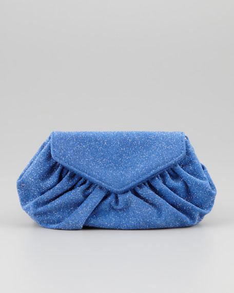 Diana Glitter Clutch Bag, Royal Blue