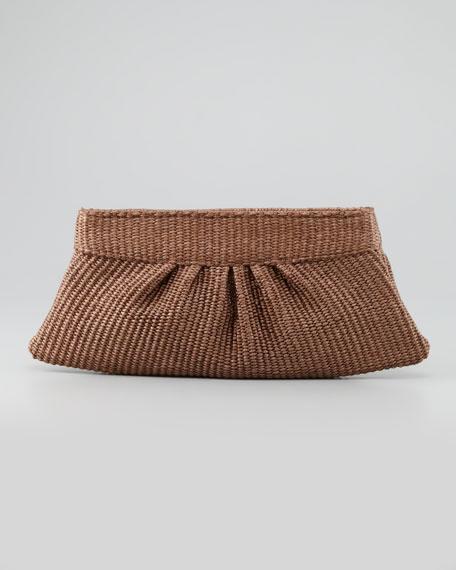 Louise Raffia Clutch Bag, Brown