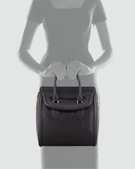 Heroine Leather Satchel Bag, Black