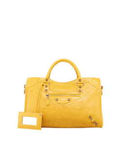 Balenciaga Giant 12 Rose Golden City Bag, Mangue
