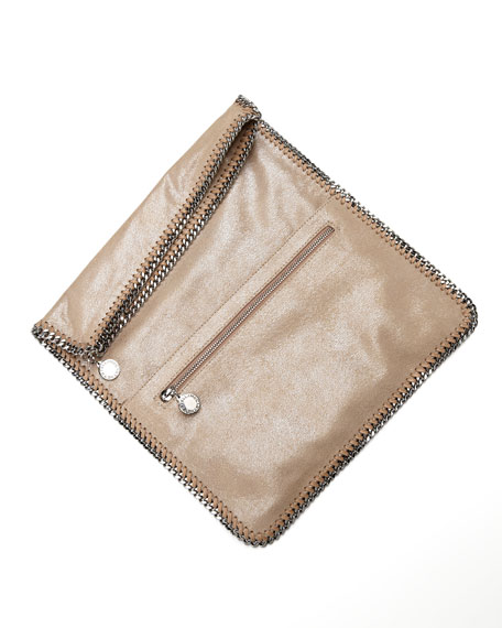 Falabella Fold-Over Clutch Bag, Redwood