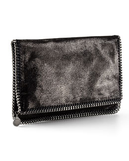 Stella McCartney Falabella Fold-Over Clutch Bag, Gray