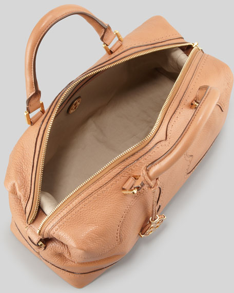 Amalie Satchel Bag, Nutmeg