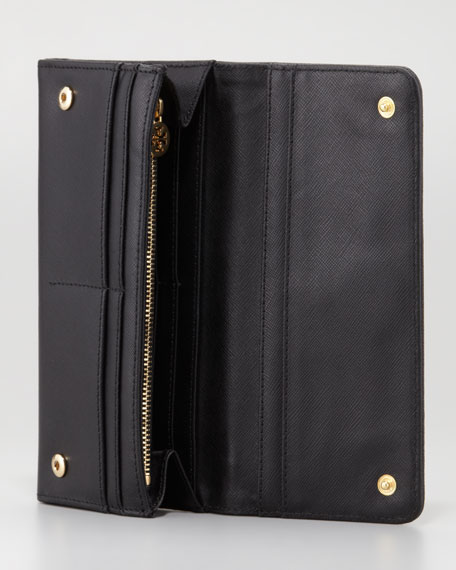 Robinson Continental Envelope Wallet, Black