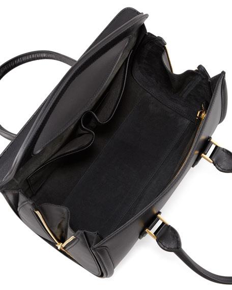 Heroine Calfskin Satchel Bag, Black