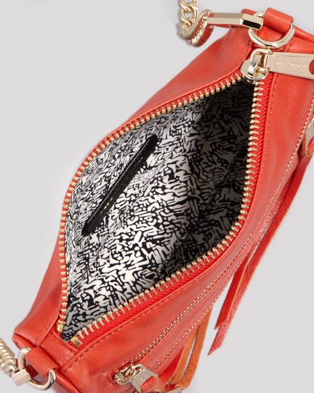 Five-Zip Mini Crossbody Bag, Tangelo
