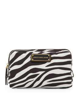 MARC by Marc Jacobs Zebra Tech Fabric Cosmetic Case, Black/White