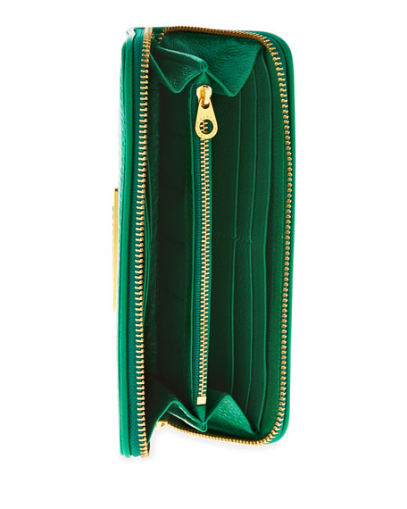 Too Hot to Handle Slim Zip Wallet, Green