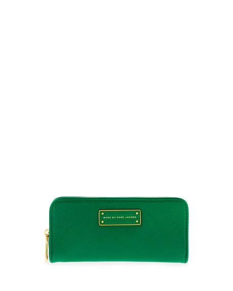 Too Hot to Handle Slim Zip Wallet, Green
