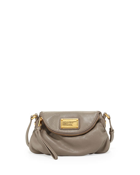 Classic Q Natasha Mini Crossbody Bag, Warm Zinc