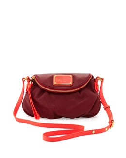 MARC by Marc Jacobs Natasha Mini Two-Tone Crossbody Bag, Cabernet Red