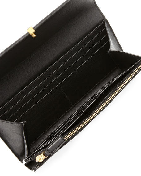 Classic Y-Ligne Large Flap Wallet, Black
