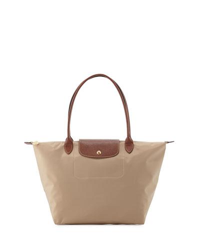 Le Pliage Large Shoulder Tote Bag, Beige