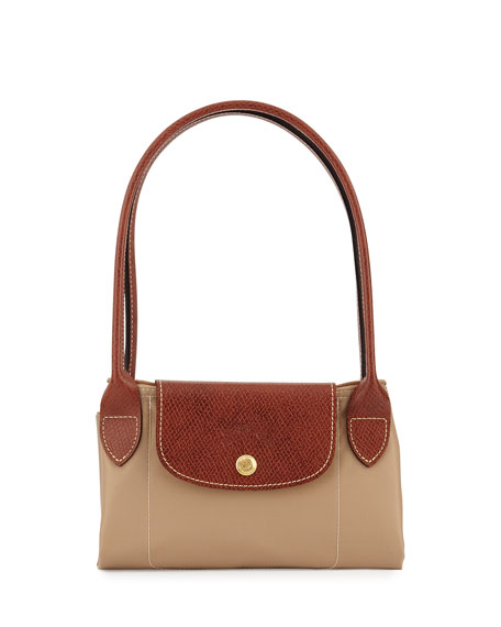Le Pliage Medium Shoulder Tote Bag, Beige
