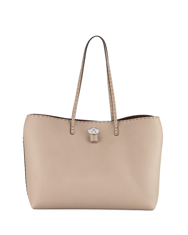 Official Site Womens Selleria Leather Turn-Lock Tote Fendi Lowest Price J1W5mUnc