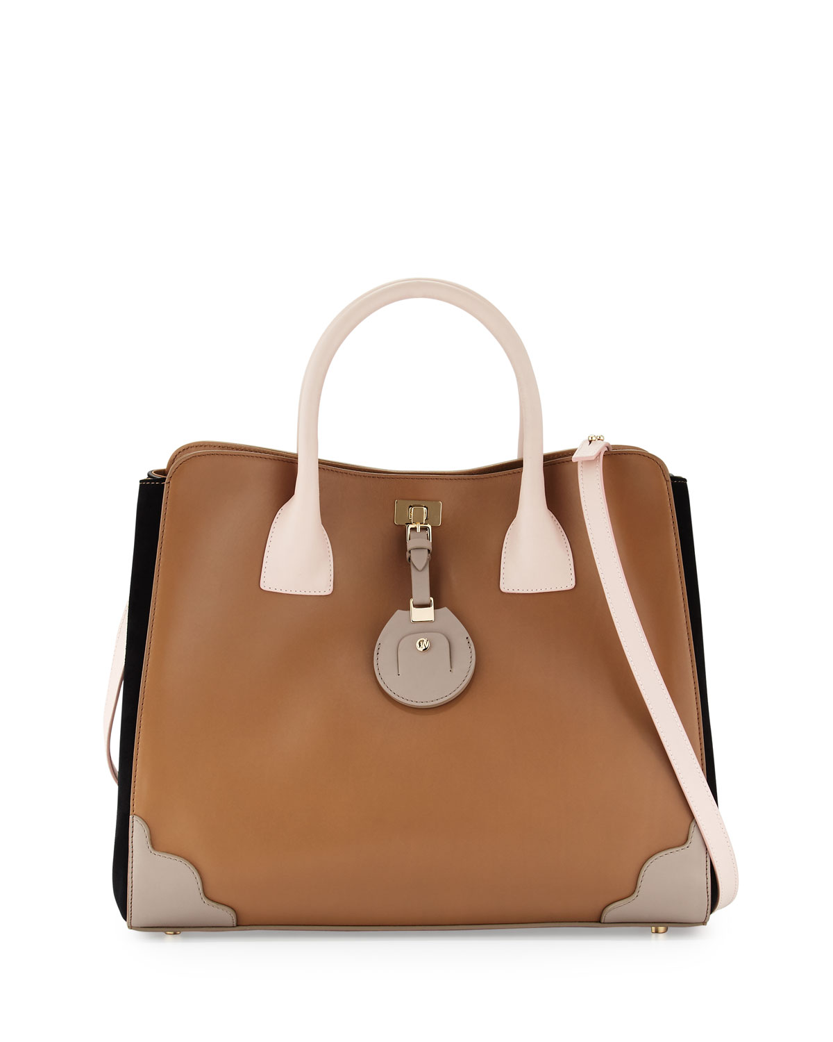 Jourdan Pee Leather Tote Bag Birch