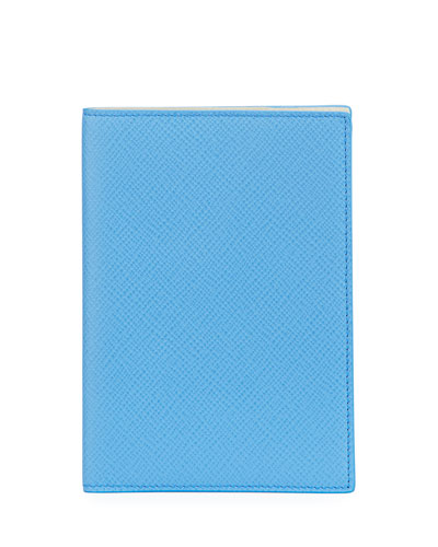 Panama Leather Passport Cover, Blue Nile