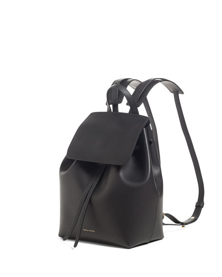 Mini Coated Leather Backpack