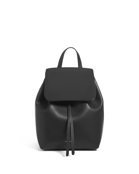Mini Coated Leather Backpack