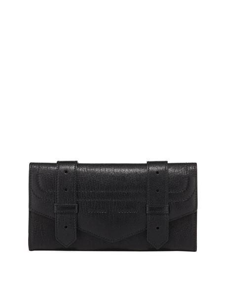 Proenza Schouler PS1 Continental Lambskin Wallet, Black