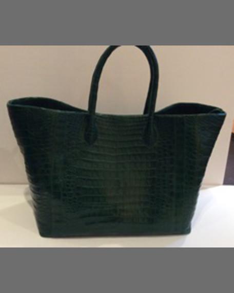 Nancy Gonzalez Convertible Large Crocodile Tote Bag, Black