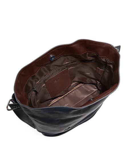 Longchamp 3D Leather Hobo Bag, Midnight Blue
