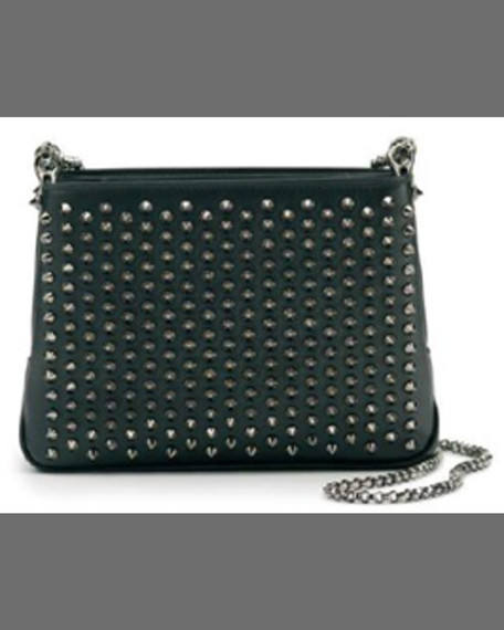 Christian Louboutin Triloubi Small Studded Leather Shoulder Bag,