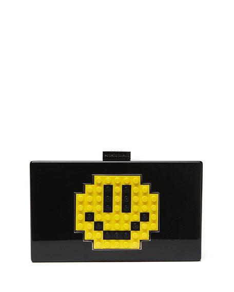 Les Petits Joueurs Grace Smile Clutch Bag, Black